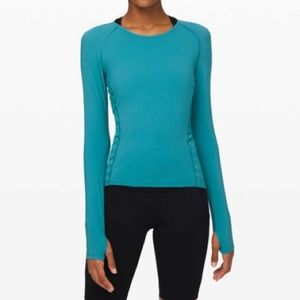 Lululemon See All Ways Long Sleeve in Ice Cave
